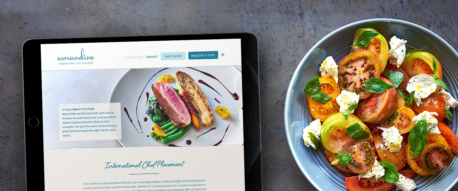 Amandine International Chefs website design