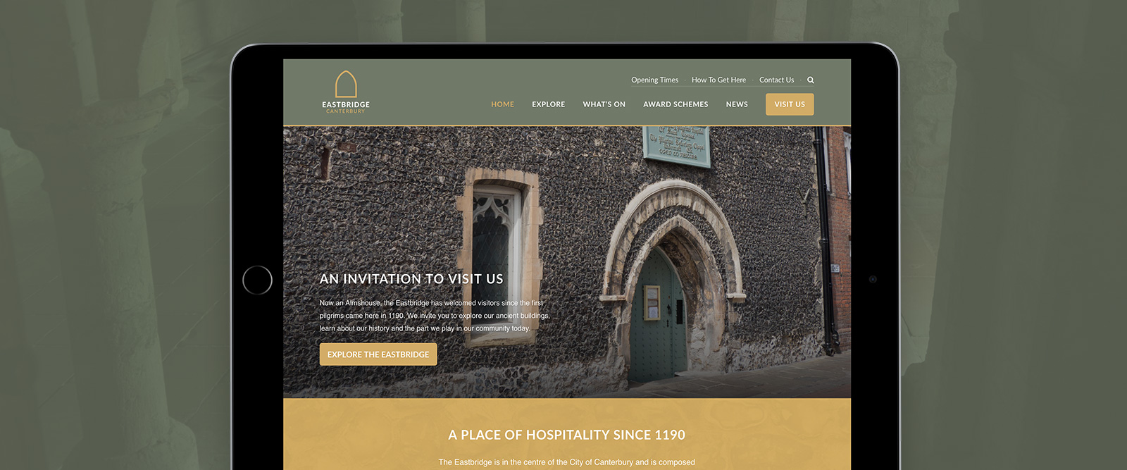 Eastbridge Canterbury website design